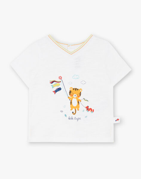 White T-shirt in fancy jersey ZAISMAEL / 21E1BGI1TMC001