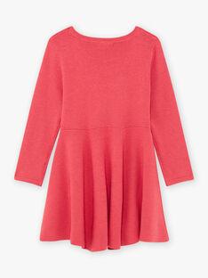 Baby girl's raspberry pink floral dress BRICHAETTE / 21H2PFM2ROB308