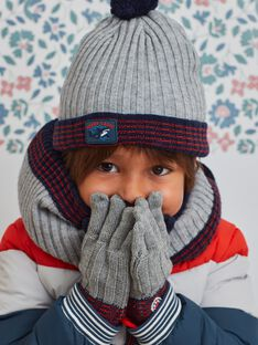 Child boy knitted hat with pompons BUBONAGE / 21H4PGE1BON943