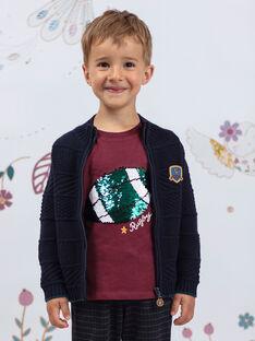 Boy's burgundy T-shirt BERNAGE / 21H3PG91TMLF511
