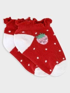 Red Low socks TAMONA / 20E4BFH1SOB050