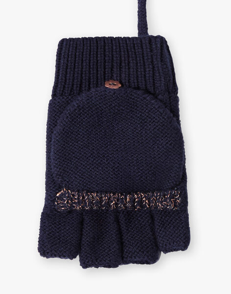 Mittens 2 in 1 navy blue child girl ZOURUVETTE / 21E4PFM1GAN070