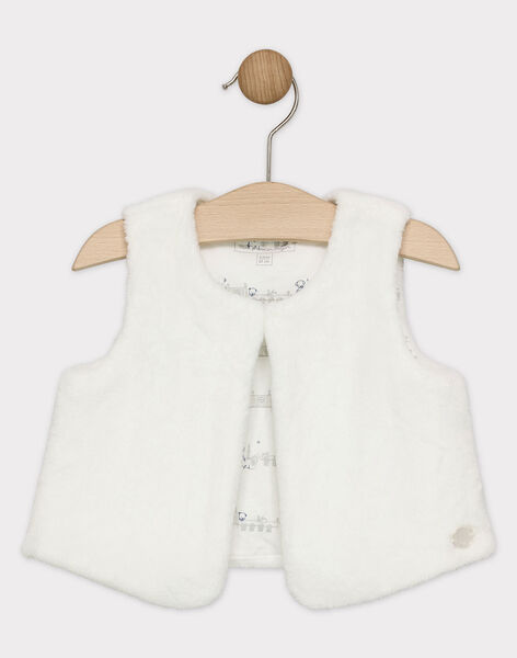 White Sleeveless cardigan SYBOBIE / 19H0CGM1CSM000