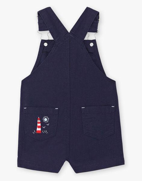 Dungarees navy blue baby boy ZAOCTAVIO / 21E1BGT1SACC214
