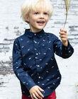 Baby boy's long-sleeved night blue shirt BABLIAGE / 21H3PG11CHM720