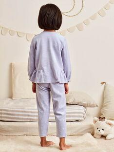 Baby girl's lavender blue fantasy pajama set BEBACIETTE / 21H5PF72PYJ326
