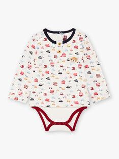 Baby boy's long-sleeved bodysuit with London print BAFELTON / 21H1BG51BOD001