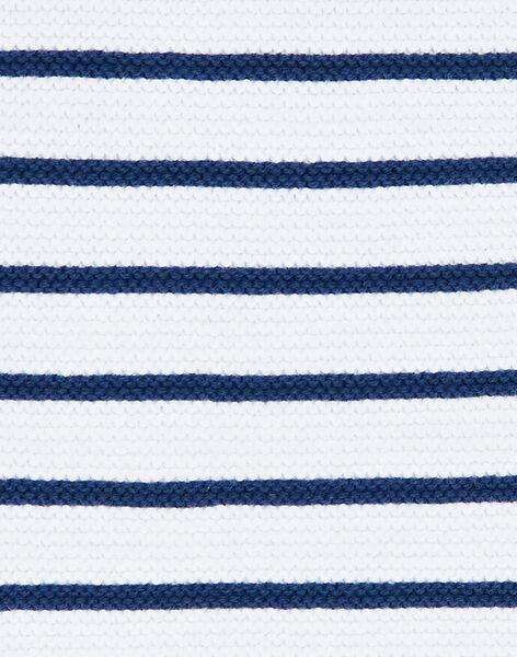 White and navy blue striped knit sweater ZAIYN / 21E1BGI1PUL001