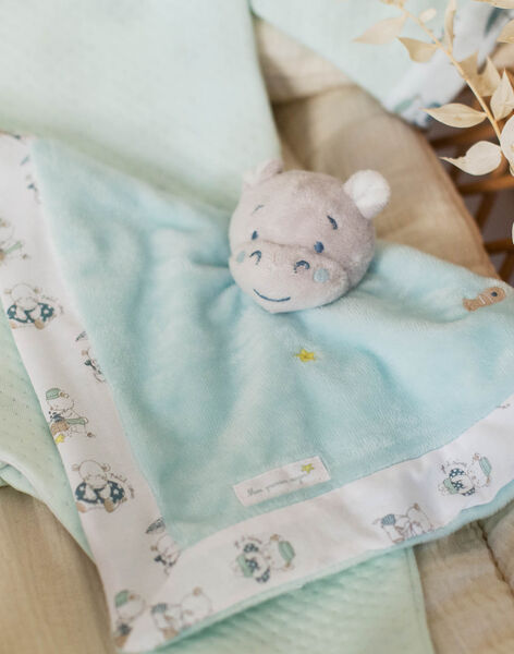 Baby boy hippopotamus square cuddly toy ZOTIAGO / 21E0AGY1JOU203