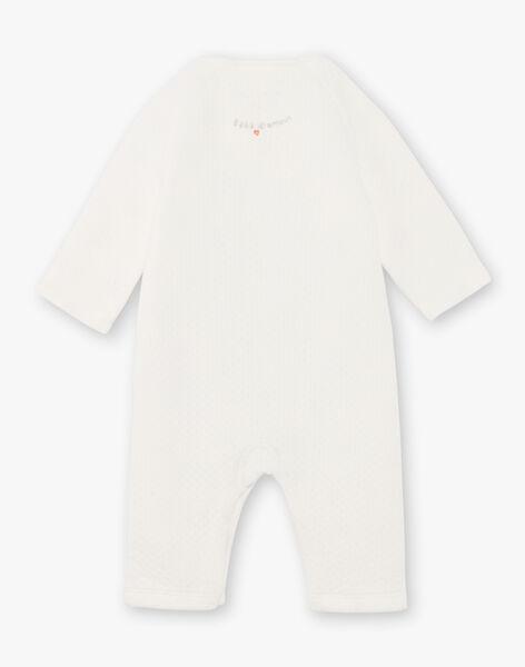 Mixed birth sleep suit and socks ecru BOCAROL / 21H0CM41ENS001