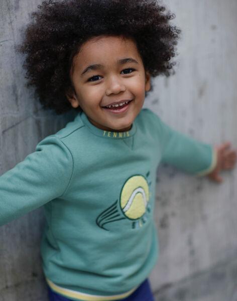 Sweat green and yellow child boy ZEMATAGE / 21E3PGO1SWE631