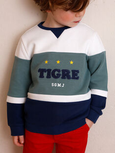 White and blue striped cotton sweatshirt ZAGRELAGE / 21E3PGI2SWE705
