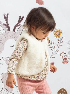 Baby girl's ecru sleeveless cardigan BAIRENE / 21H1BFJ1CSM001