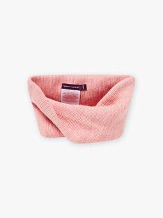 Girl's mottled pink snood BLOZYETTE / 21H4PFD2SNOD314