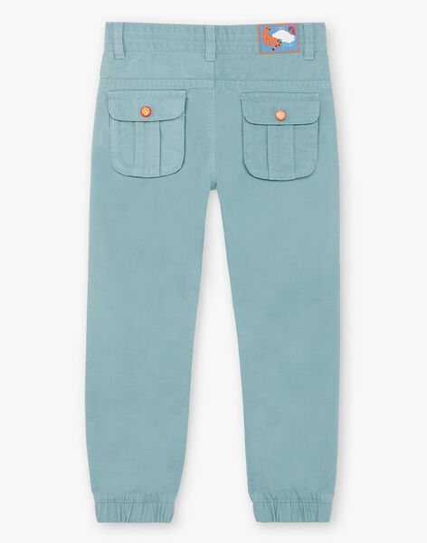 Water green jogger pants in cotton twill ZAGOAGE / 21E3PGI2PAN629