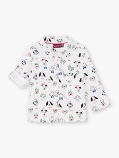 Baby Boy's Black & White Dog Print Shirt BABLAISE / 21H1BG11CHM001