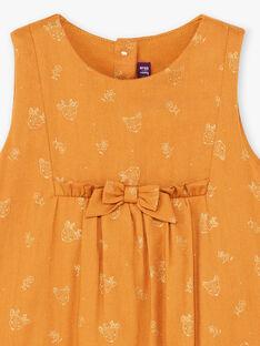 Baby girl camel jumpsuit with fancy print BAINOU / 21H1BFJ1SAL804