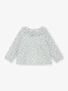 Baby girl's ruffled collar flower print blouse BAORIA / 21H1BFO1CHE001