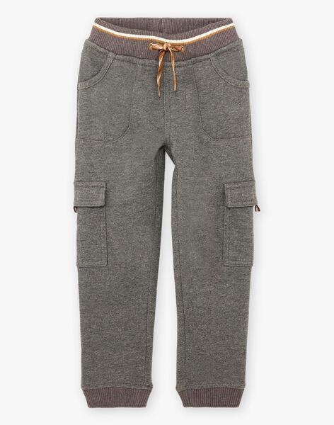 Boy's grey mottled jogging suit BIGLAGE / 21H3PGJ3PAN944
