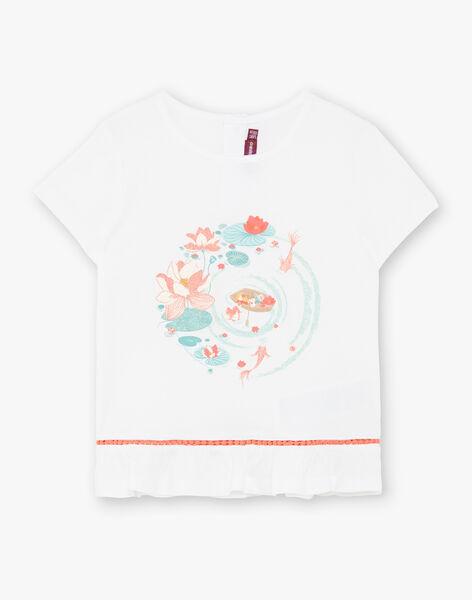 Off white cotton jersey t-shirt ZELOUNETTE / 21E2PFI1TMC001