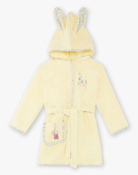 Yellow bathrobe child girl ZEPENETTE / 21E5PF11PEIB102
