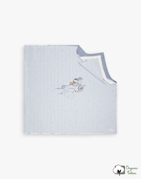 3 blue and white swaddling bags boy birth BOKAR / 21H0AG41LAN219