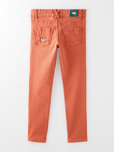 Dark orange PANTS VETRAGE / 20H3PGM1PAN408
