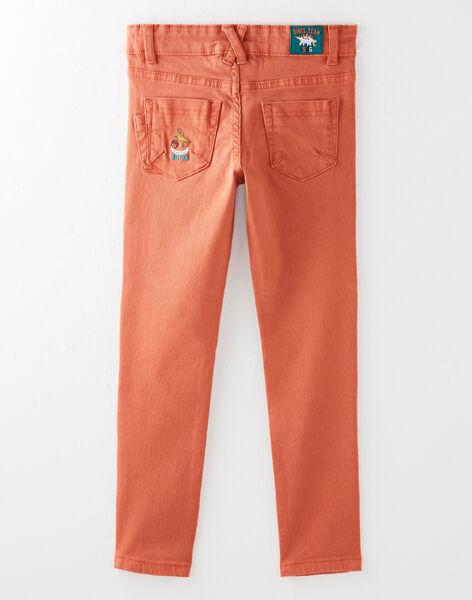 Dark orange PANTS VETRAGE / 20H3PGM1PAN408
