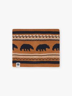 Jacquard knitted snood child boy BICOUAGE / 21H4PGE2SNO804