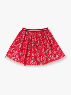 Red skirt child girl ZOJUPETTE / 21E2PFB1JUP050