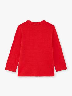 Boy's red T-shirt BUTILAGE2 / 21H3PGB4TML050