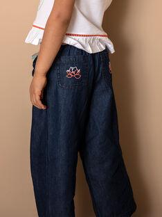 Wide denim pants with belt ZEPALAZETTE / 21E2PFI1PANK005