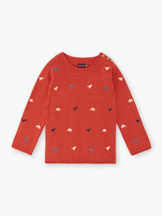 Brick red sweater boy child ZEBLAGE / 21E3PGB1PUL506