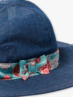 Denim hat with printed ribbon ZECAPETTE / 21E4PFI1CHAK005