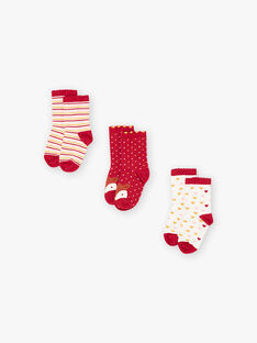 Set of 3 pairs of assorted socks for girls BROFUETTE / 21H4PFB1LC3001