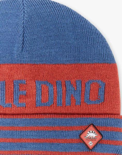 Blue and red knit cap ZATAGE / 21E4PGM1BON506