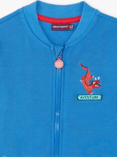 Teddy blue dragon embroidery ZADOUNAGE / 21E3PGJ1GILC206
