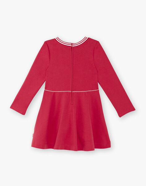 Fuchsia dress child girl ZLOMETTE2 / 21E2PFK4ROB304