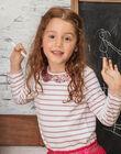 Girl's long-sleeved pale pink t-shirt BROMARETTE3 / 21H2PFB5TML001