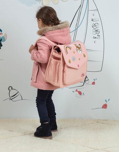 Pink satchel with fantasy motifs child girl BAZINETTE / 21H4PF53BES310
