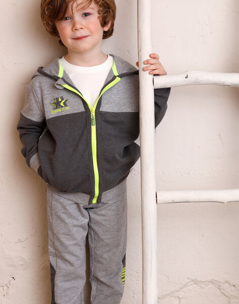 Grey jogging jacket ZEDIRAGE1 / 21E3PGK3JGHJ924
