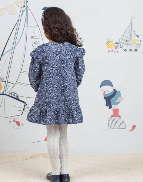 Girl's fancy print long sleeve dress BYROBETTE / 21H2PFL1ROB715
