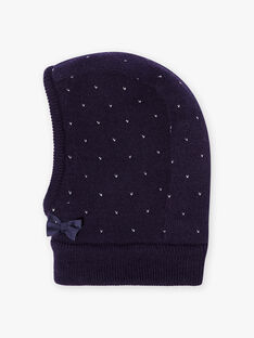 Child girl's night blue knitted balaclava BLOGOETTE / 21H4PFE1CAG705