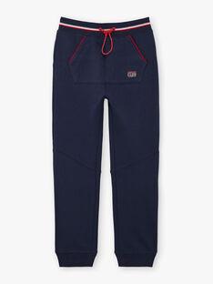 Boy's navy blue jogging pants BARIAGE1 / 21H3PG33JGB070