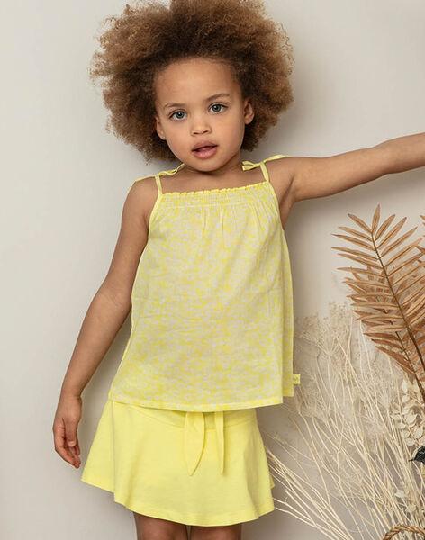 Yellow skirt child girl ZLUCETTE3 / 21E2PFL3JUPB104