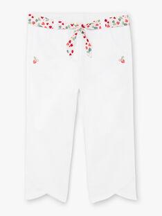 Off-white pants with printed belt ZOBILETTE / 21E2PFJ1PCO001