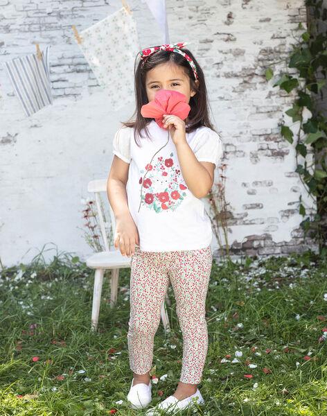 Girl's flower print legging BAZEGETTE / 21H4PF11CAL001
