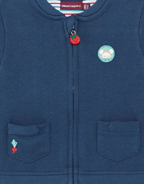 Navy blue zipped vest ZAKRISTOF / 21E1BGJ1GILP270
