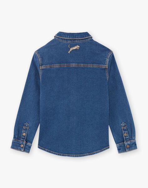 Baby boy long sleeve denim shirt BENOUAGE / 21H3PG91CHMP269