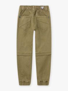Child boy khaki jogger pants BOTROMAGE / 21H3PGO1PAN612